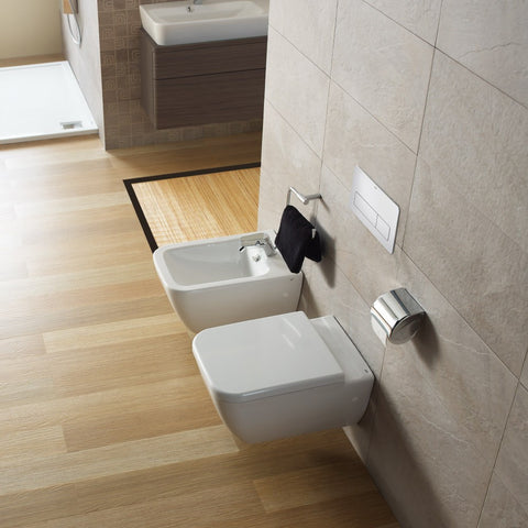 Emma Square Wall hung pan with soft close seat