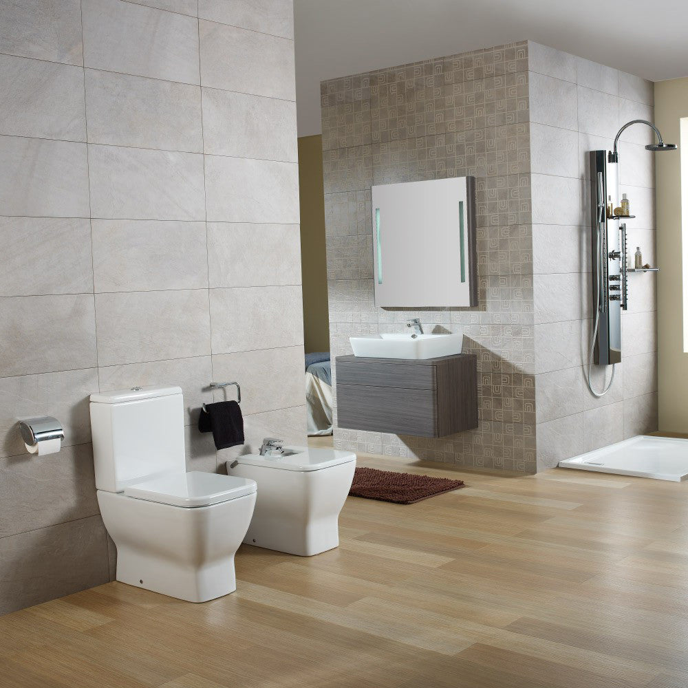 Emma Square Toilets, Bidet & Basin Range - Emma Square Bidet for over rim water supply