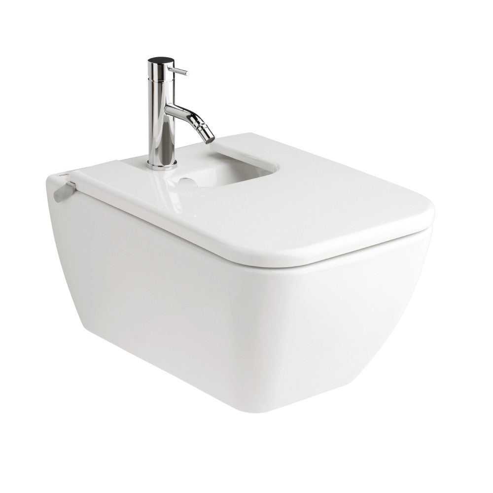 - Emma Square Wall hung Bidet for over rim water supply
