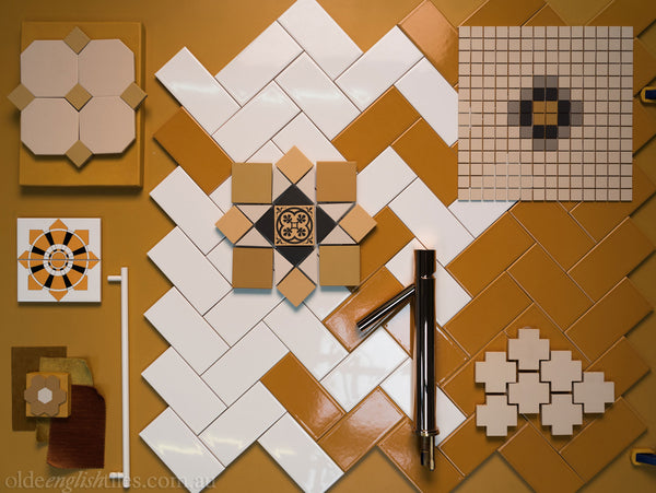 Art Deco Wall Tiles Yellow