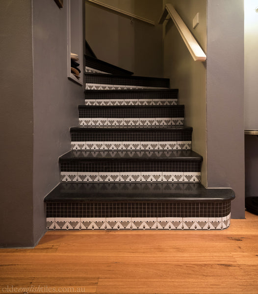 Art Deco Wall Tiles Neutral Bay stairway