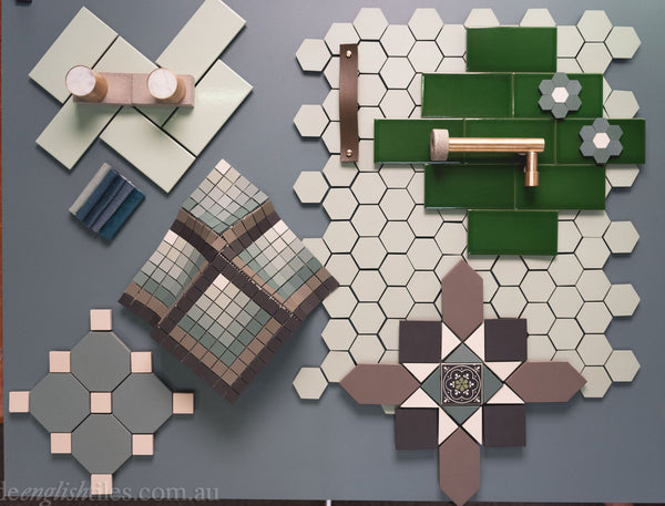 Tessellated Tiles Green