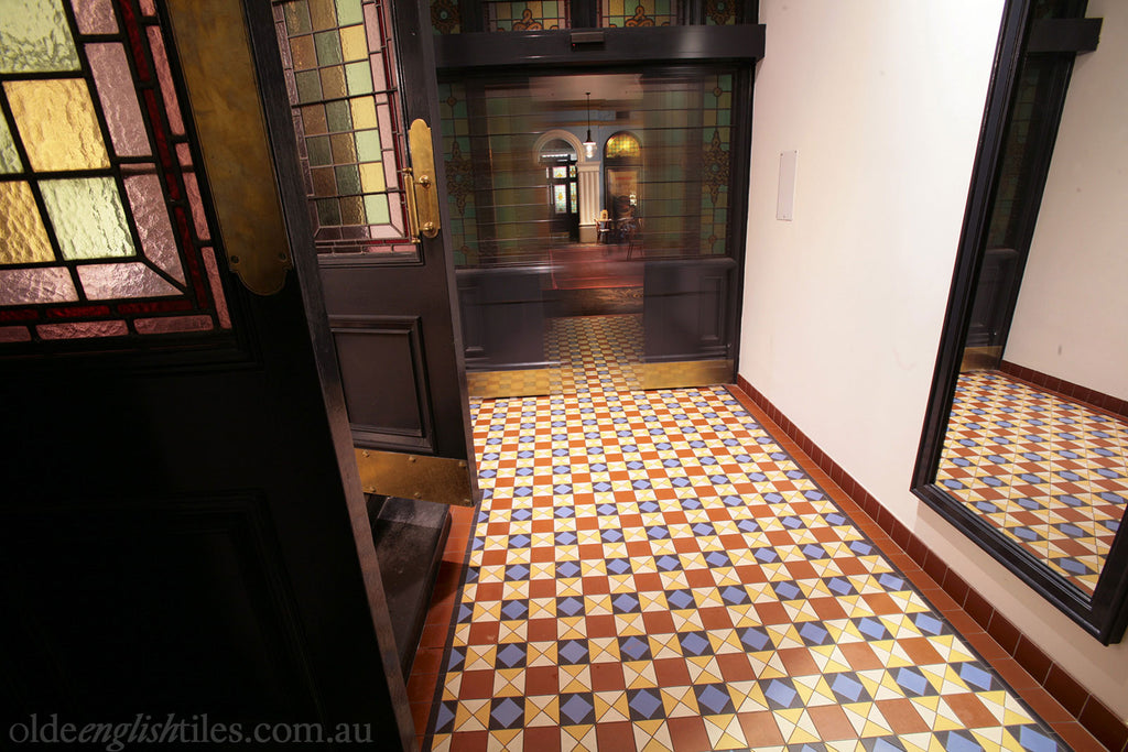 Olde English Tiles – Toorak continuous pattern. Gorgeous Heritage Shopping Tiles