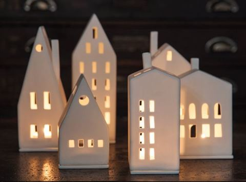 Porcelain Tealight House