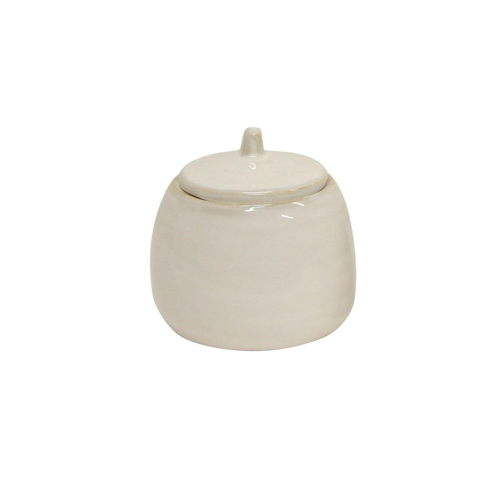 Franco Rustic White Sugar Pot