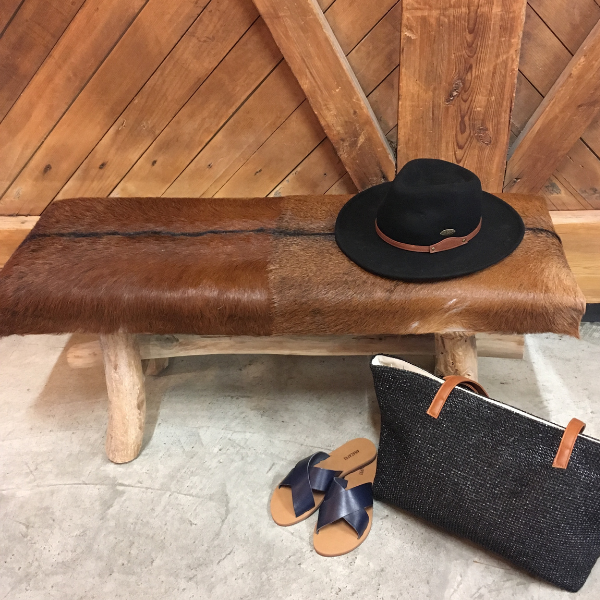 Goat Hide Bench Seat