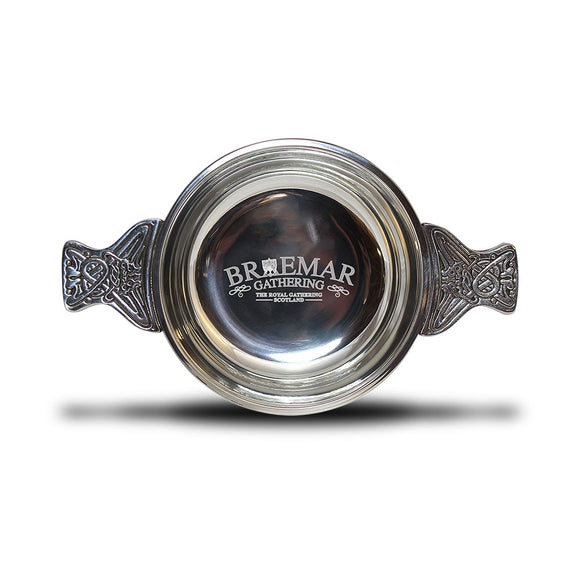 Braemar Gathering Classic Large Pewter Quaich