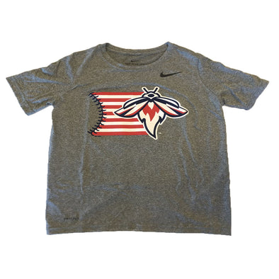 Columbia Fireflies Youth Grey Nike 4th of July Tee