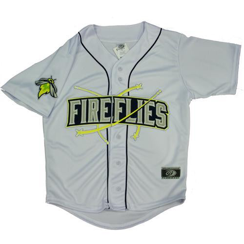 Columbia Fireflies Youth White Home Replica Jersey