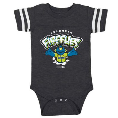 Columbia Fireflies Infant Charcoal Replicate Sporty Bodysuit