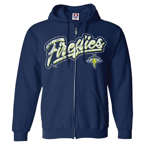 Columbia Fireflies Youth Navy Discipline Full Zip Hoodie