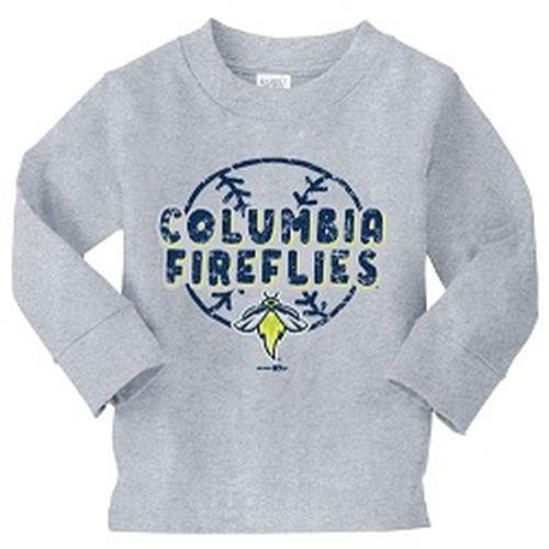 Columbia Fireflies Toddler Heather Grey Longsleeve Jeff Tee
