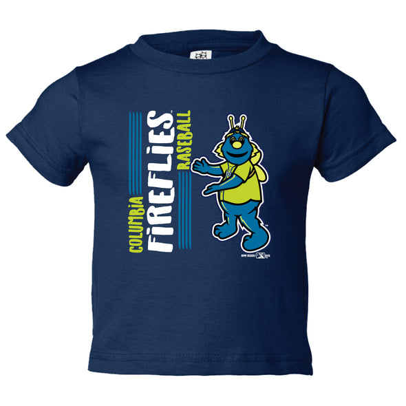 Columbia Fireflies Infant Navy Mailing Tee
