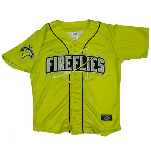 Columbia Fireflies Adult Neon Green Alternate Jersey