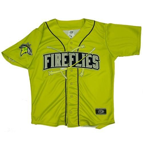 Columbia Fireflies Youth Neon Green Alternate Jersey