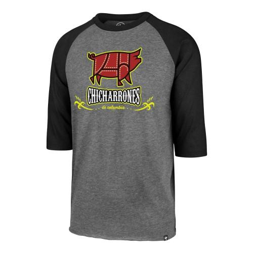 Columbia Fireflies Adult Grey Copa Raglan Tee