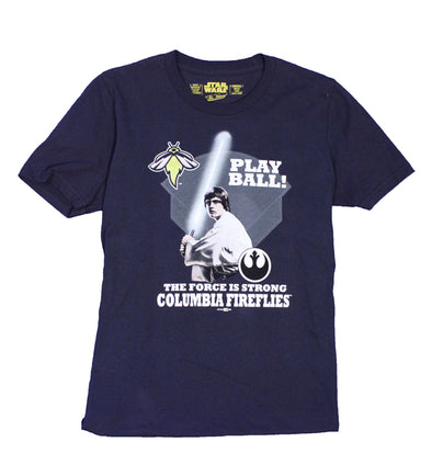 Columbia Fireflies Youth Navy Star Wars Tee