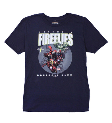 Columbia Fireflies Youth Navy Marvel Tee