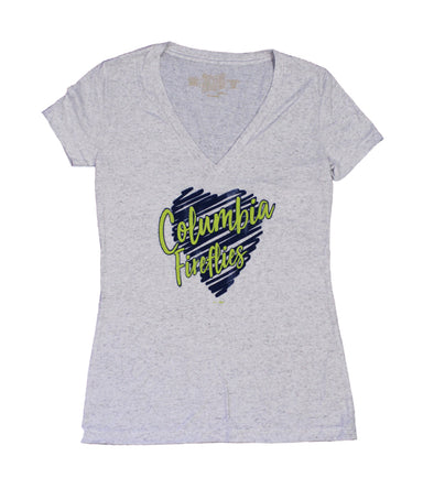 Columbia Fireflies Women's White Scoopneck Tee