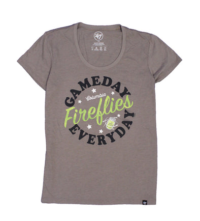 Columbia Fireflies Women's Wolf Grey 24/7 Scoop Tee