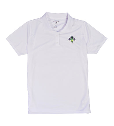 Columbia Fireflies Women's White Exceed Polo