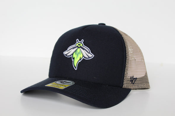 Columbia Fireflies Youth Navy Mesh Snapback Cap