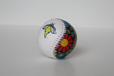 Columbia Fireflies White and Multi-Color Flowers Baseball