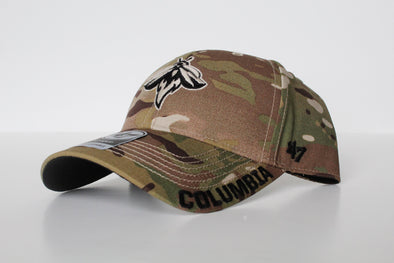 Columbia Fireflies Adult Army Camo MVP Cap