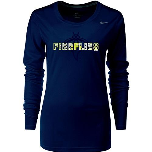 Columbia Fireflies Women's Navy Background Longsleeve Tee