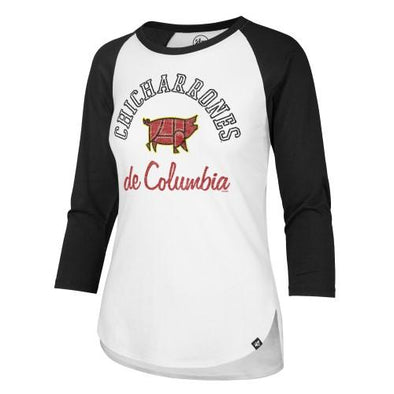 Columbia Fireflies Women's White Copa Raglan Tee