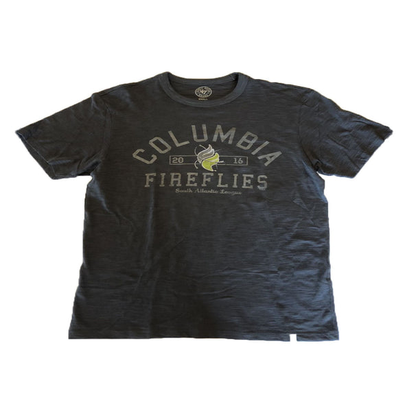 Columbia Fireflies Adult Charcoal Alternate Scrum Tee