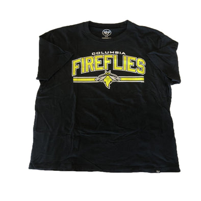 Columbia Fireflies Adult Jet Black Super Arch Rival Tee