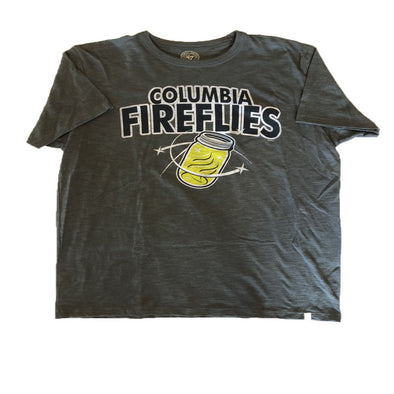 Columbia Fireflies Adult Grey Mason Jar Scrum Tee