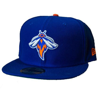 Columbia Fireflies Adult Blue NY Mets Fitted Cap