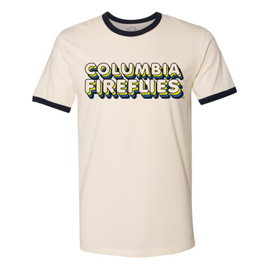 Columbia Fireflies Adult Natural/Navy 70's Ringer Tee