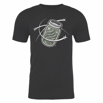 Columbia Fireflies Adult Black Camo Mason Jar Tee
