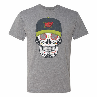Columbia Fireflies Adult Grey Sugar Skull Copa Tee