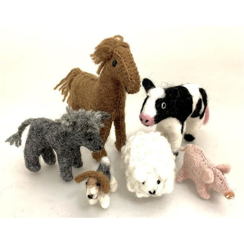 ON SALE Felt Farm Animals - ready to ship
