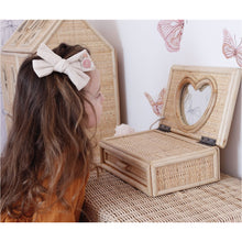Load image into Gallery viewer, PRE-ORDER 'Close to my heart' Rattan keepsake box with mirror - Juni Moon 🌙