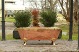 66 Large Antique Inspired Freestanding Natural Copper Double Ended Clawfoot Bathtub