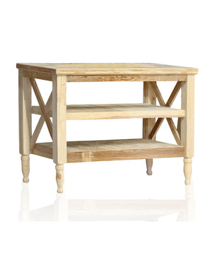 "48"" Reclaimed Wood French Provincial Vanity Stand Only"