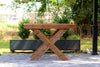 Hand Crafted Barn Wood Table Craftsman Design Reclaimed Wood Kitchen Island