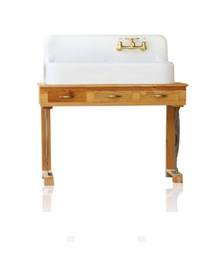 Post Modern Farmhouse Handmade Reclaimed Wood & Metal Chippendale Silhouette Bath Vanity