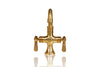 Single Hole Deck Mount Unlaquered Natural Brass Faucet - 6 inch Spout w/ Lever Handles