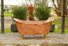 Large 65 Slipper Antique Inspired Freestanding Natural Copper Clawfoot Bathtub