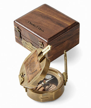 Gift Boxed Brass Compass