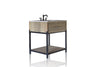"Reclaimed Elm & Iron Farmhouse Bath Vanity Small 34"" Single Iron Framed Open Shelf Console Vanity"