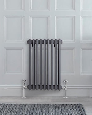 "Anthracite Traditional Cast-Iron Style Radiator - 23.5"" x 16"""