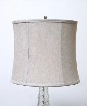 Grain Linen Fluted Drum Lampshade