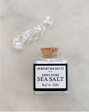 Pure 2.0 oz sea salt jar by Newport Sea Salt